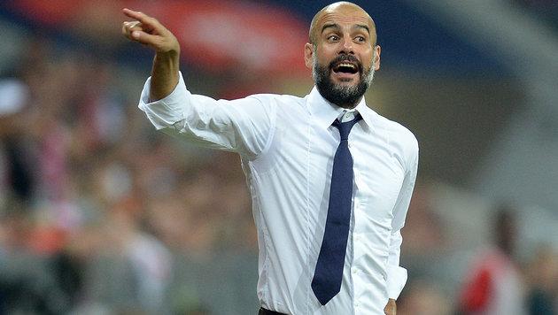 Guardiola wechselt im Sommer zu Manchester City (Bild: AFP/DPA/SVEN HOPPE)