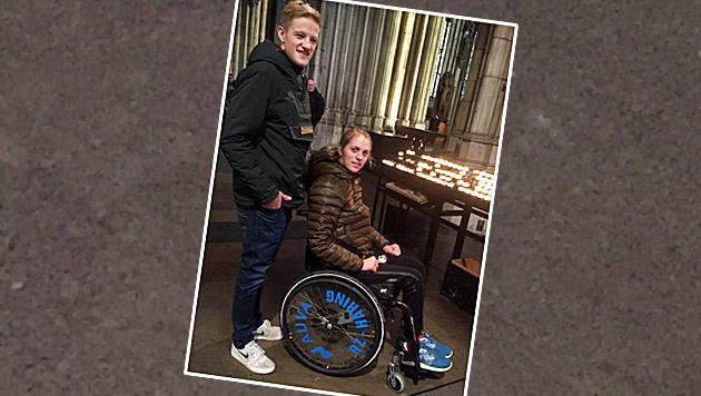 Kira mit Freund Christoph im Kölner Dom (Bild: Tom Sports Consulting)
