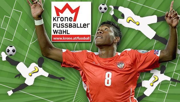 """""""Krone""""-Fußballerwahl: Alaba führt vor Hofmann (Bild: APA/ROLAND SCHLAGER, thinkstockphotos.de)"""