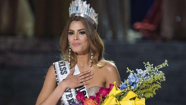 """Ariadna Gutiérrez aus Kolumbien war zwei Minuten lang """"Miss Universe"""". (Bild: Valerie Macon)"""