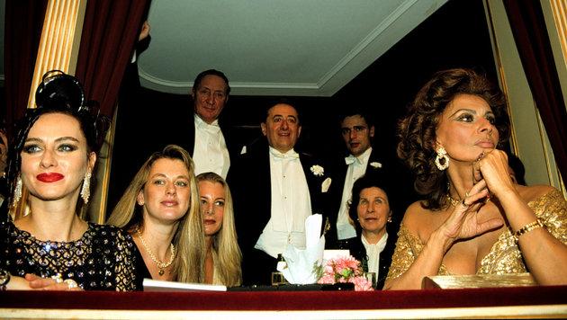 1995: Sophia Loren als Stargast am Wiener Opernball (Bild: Viennareport)