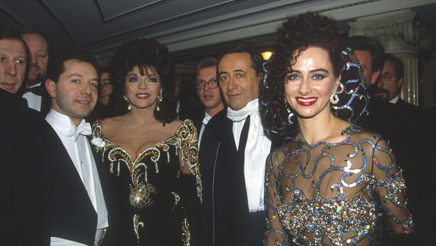 Opernball 1993: Joan Collins war da. (Bild: Viennareport)