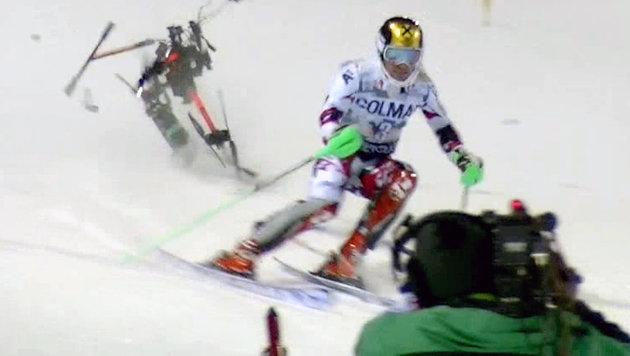 Ski-Ass Marcel Hirscher wurde fast von einer Drohne getroffen. (Bild: Krone)