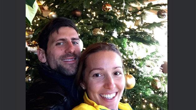 Noch ein Schnappschuss aus dem Tennis-Lager: Novak Djokovic! (Bild: twitter.com)
