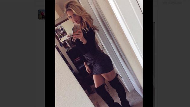 Golf-Ass Paige Spiranac hat sich für Weihnachten in Schale geworfen! (Bild: twitter.com)