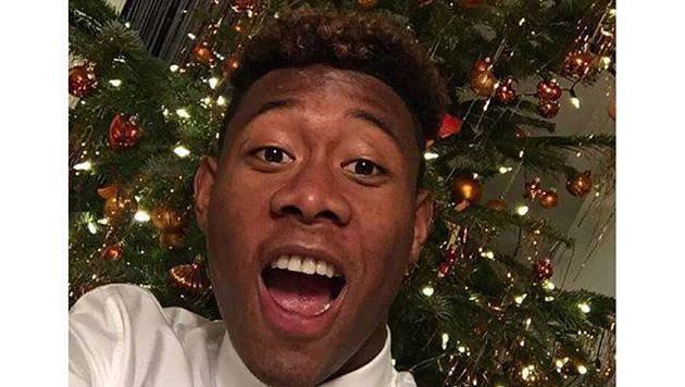 Denn dieses Pic hat David seinen Fans zu Weihnachten gesendet! (Bild: Facebook.com)