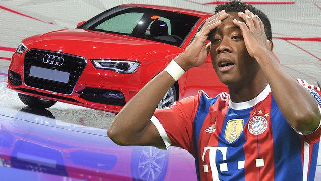 David Alaba borgt Bayern-Audi her: Alko-Unfall! (Bild: dpa/Uli Deck, APA/dpa/unbekannt)