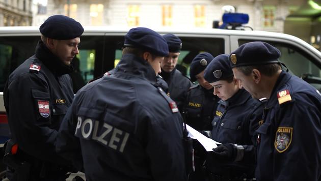250 Polizisten aus Bundesländern unterstützen Wien (Bild: APA/HELMUT FOHRINGER)