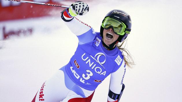 """Lara Gut: """"Dieser Sieg ist für Anna Fenninger"""" (Bild: AP)"""