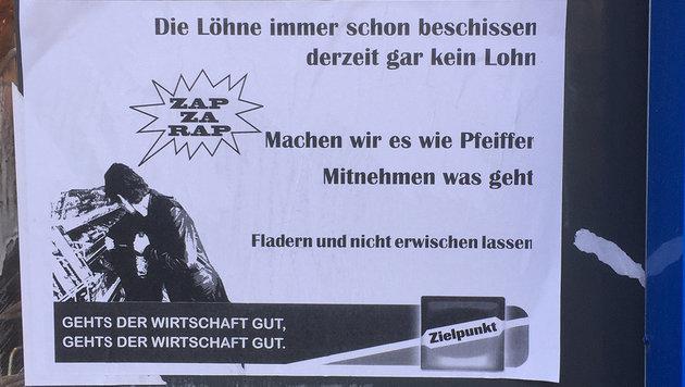 """Mitnehmen was geht"": Zielpunkt-Filiale geplündert (Bild: facebook.com/Shorter)"