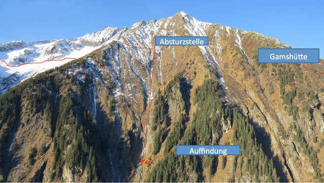 Mutter und Sohn stürzten bei Bergtour in den Tod (Bild: ZOOM TIROL)