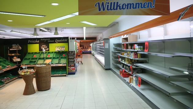 Eine ausverkaufte Zielpunkt-Filiale in Wien (Bild: Peter Tomschi)