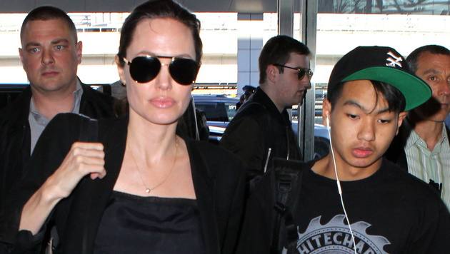 Angelina Jolie mit Sohn Pax (Bild: Viennareport)