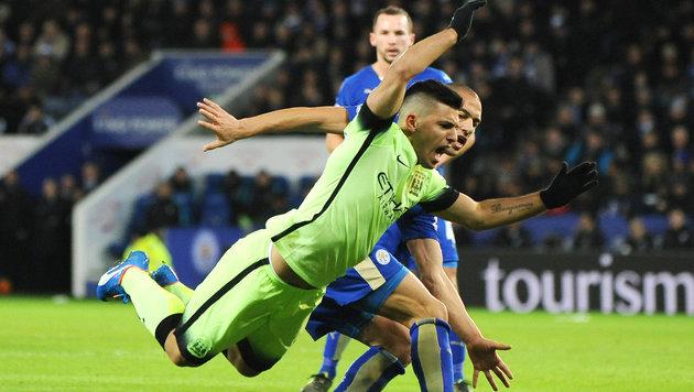 Leicester und Fuchs trotzen ManCity Remis ab (Bild: AP)