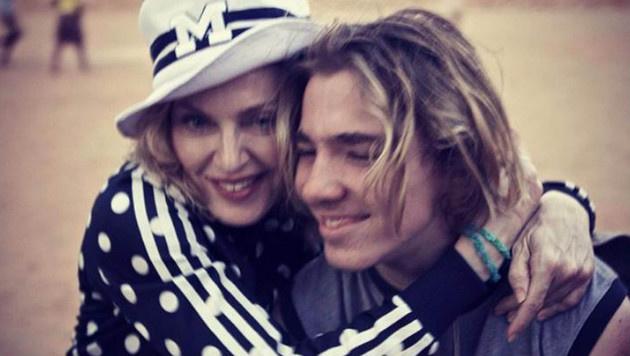 Madonna und ihr Sohn Rocco (Bild: Viennareport)