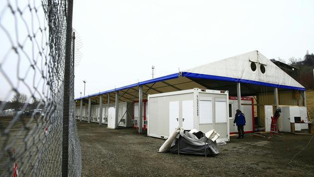 """Spielfeld: """"Alte"""" Grenze wieder für Autos geöffnet (Bild: APA/ERWIN SCHERIAU)"""