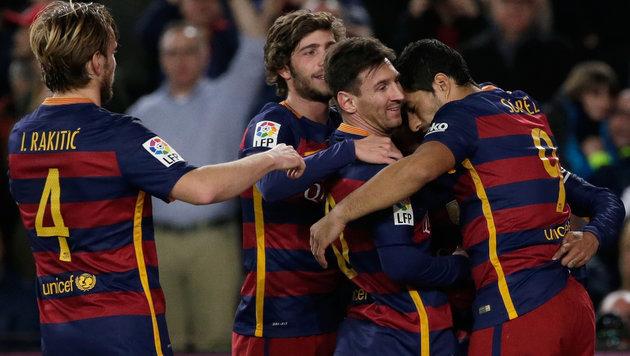 4:0 im Video! Messi trifft im 500. Spiel für Barca (Bild: AP)