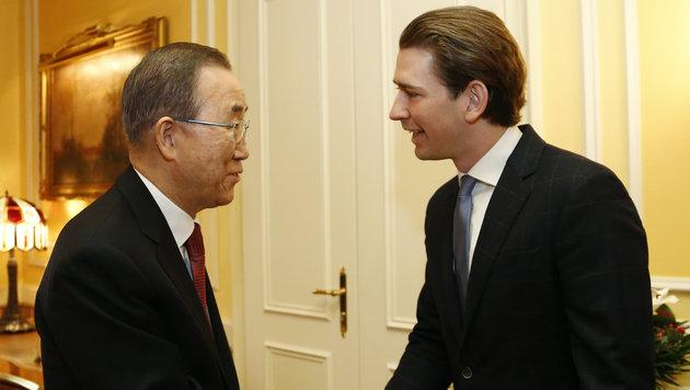 UNO-Generalsekretär Ban Ki Moon auf Wien-Besuch (Bild: AUSSENMINISTERIUM/DRAGAN TATIC)