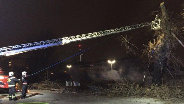 Alarmstufe 2 bei Brand in ehemaligem Kinocenter (Bild: MA 68 Lichtbildstelle)