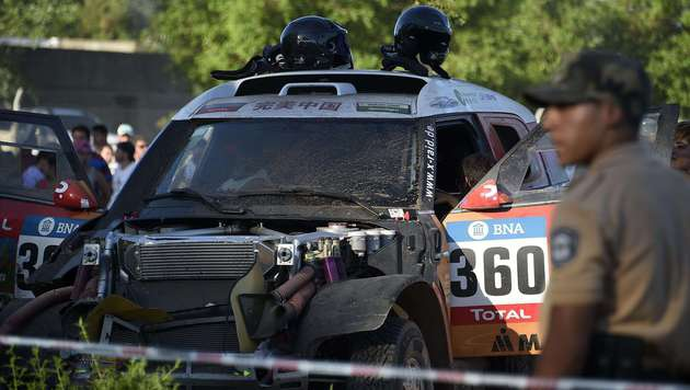 Schreckliche Unfall bei Dakar-Rallye im Video (Bild: Copyright, GIROPTIC 360° Experts, 2014. All rights reserved)