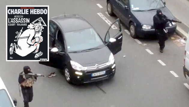 """Charlie Hebdo""-Anschlag: IS-Hintermann getötet? (Bild: APA/AFP/CHARLIE HEBDO, APA/AFP/JORDI MIR)"