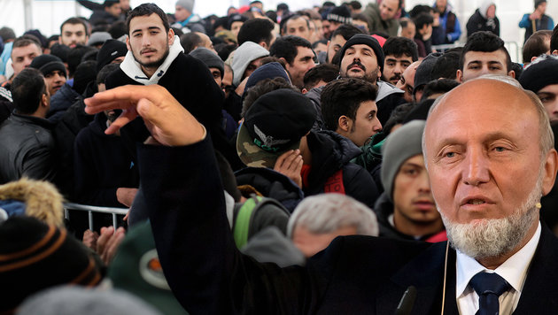 """Fl�chtlingshilfe geht auf Kosten der �rmsten"" (Bild: AP, APA/EPA/SVEN HOPPE)"
