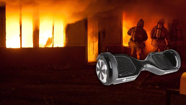 """""""Hoverboard"""" setzte beim Aufladen Haus in Brand (Bild: flickr.com/Ada Be (Symbolbild))"""