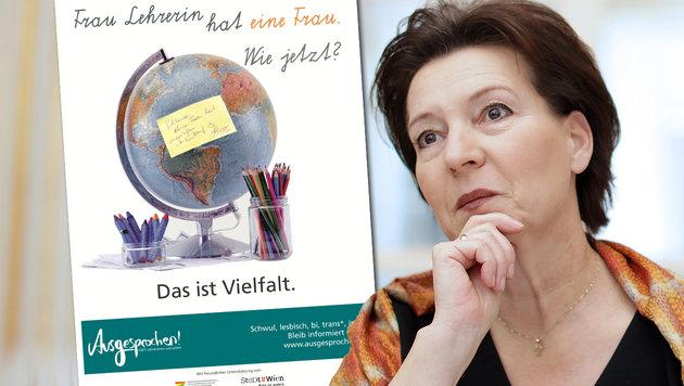 An Wiens Schulen werben Homosexuellen-Plakate (Bild: APA/GEORG HOCHMUTH, Verein Ausgesprochen)