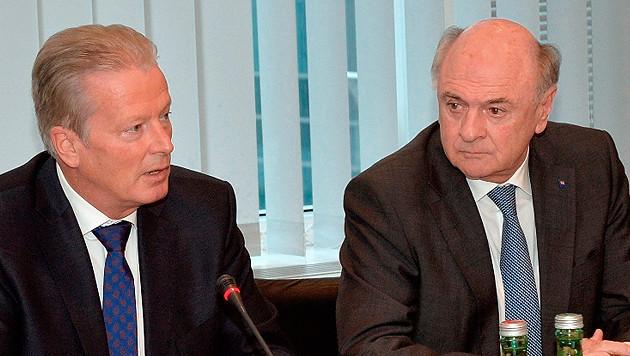 ÖVP-Chef Mitterlehner und Niederösterreichs Landeshauptmann Erwin Pröll (Bild: Volkspartei Niederösterreich)