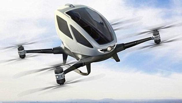 Taxi der Zukunft: Mit einer Drohne abheben (Bild: ehang.com)
