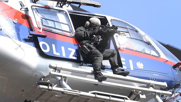 Terror-Großübung der Polizei am Freitag in Wien (Bild: APA/Robert Jäger)