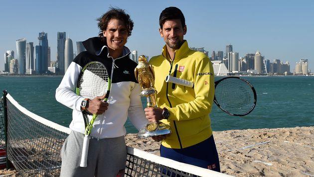Djokovic im Doha-Traumfinale gegen Nadal (Bild: APA/AFP/Qatar Tennis Federation/-)