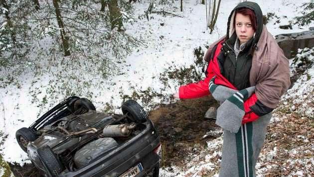 Die 18-Jährige blieb unverletzt. (Bild: Werner Kerschbaummayr/foto-kerschi.at)