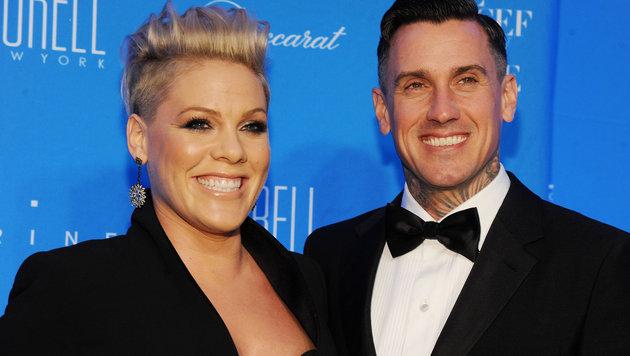 Pink mit Ehemann Carey Hart (Bild: Viennareport)