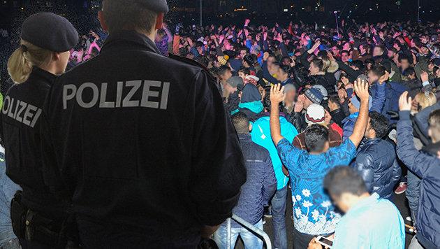 Während der Silvesterfeierlichkeiten in Innsbruck kam es auf dem Marktplatz zu Übergriffen. (Bild: Peter Tomschi, www.zeitungsfoto.at)