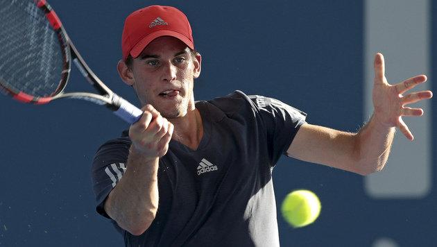 """Starker Thiem bekommt""""s jetzt mit Federer zu tun (Bild: AP)"""