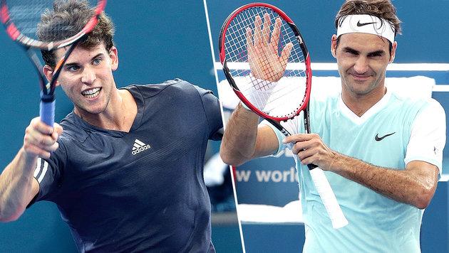 """Federer nach Sieg: """"Das kann Thiems Jahr werden!"""" (Bild: AP)"""