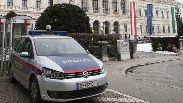 Die Polizei ermittelt an der Grazer Karl-Franzens-Universität. (Bild: Jürgen Radspieler)