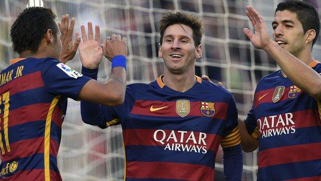 Messi-Triplepack bei Barcelonas 4:0 gegen Granada! (Bild: AFP)