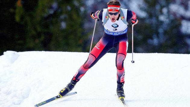 Sensationell! Simon Eder triumphiert in Ruhpolding (Bild: GEPA)