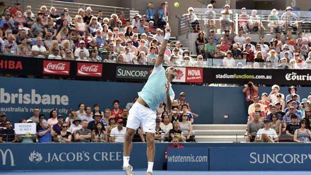 """Federer nach Sieg: """"Das kann Thiems Jahr werden!"""" (Bild: APA/AFP/SAEED KHAN)"""