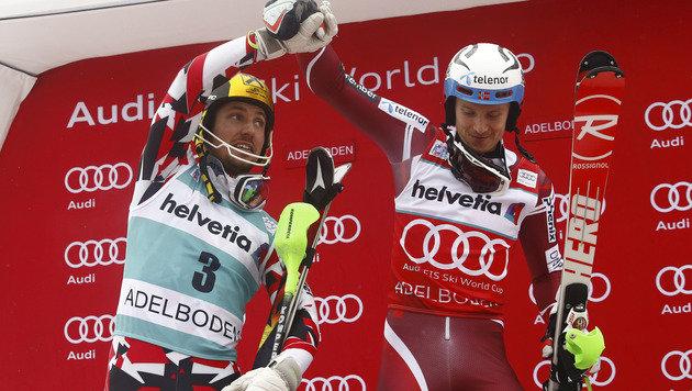 Hirscher verpasst Adelboden-Sieg um Wimpernschlag (Bild: AP)