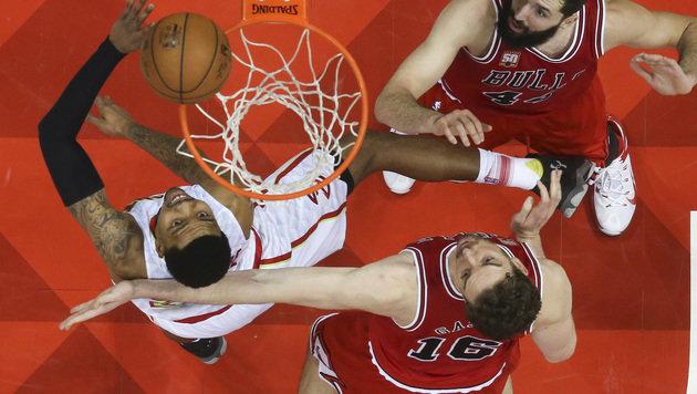 Atlanta beendet Siegesserie der Chicago Bulls (Bild: AP)