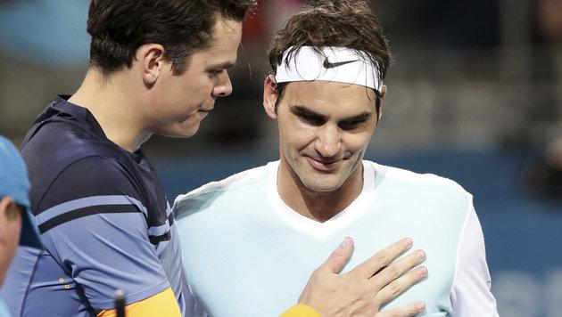 Federer verliert in Brisbane-Finale gegen Raonic (Bild: AP)