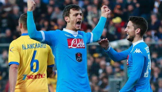 Da jubelt Napolis Manolo Gabbiadini aber ordentlich! (Bild: AFP or licensors)