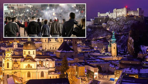 Nicht nur in Köln (li.) kam es zu Übergriffen - auch in Salzburg melden sich mehr und mehr Opfer. (Bild: dpa/Markus Boehm, thinkstockphotos.de)
