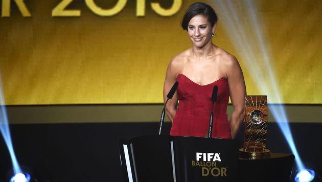 Carli Lloyd, Weltfußballerin 2015 (Bild: AFP or licensors)
