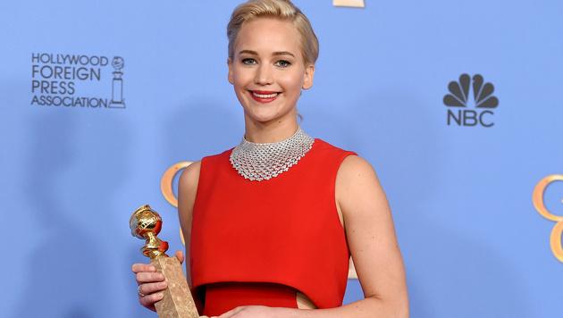 """Jennifer Lawrence wurde zur besten Schauspielerin in einer Komödie (""""Joy"""") gekürt. (Bild: Jordan Strauss/Invision/AP)"""