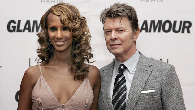David Bowie und seine Ehefrau Iman (Bild: STAN HONDA / AFP / picturedesk.com)