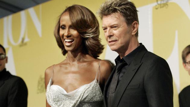 David Bowie und Ehefrau Iman (Bild: AP)